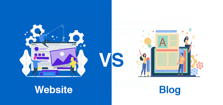 Difference between Website and Blog for Online Business Mint Media